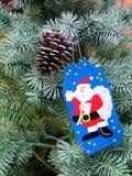 Deseo en un árbol de navidad Imágenes de archivo libres de regalías