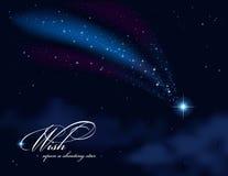 Deseo sobre una estrella fugaz libre illustration
