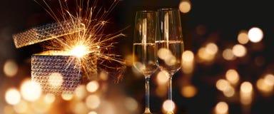 Deseos chispeantes del Año Nuevo Fotografía de archivo