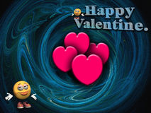 Deseos de la tarjeta del día de San Valentín. stock de ilustración