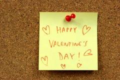 Deseos de las tarjetas del día de San Valentín Foto de archivo