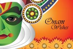 Deseos de Onam para el festival indio de Onam Fotografía de archivo libre de regalías