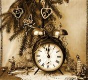 Deseos del Año Nuevo de la vendimia Foto de archivo