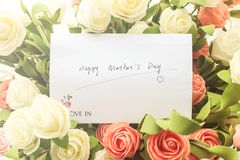 Deseos del día del ` s de la madre Foto de archivo libre de regalías