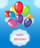 Deseos del feliz cumpleaños Fotos de archivo