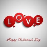 Deseos rojos abstractos de la tarjeta del día de San Valentín Imagen de archivo