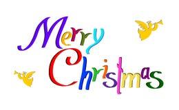 Deseos y ángeles de la Feliz Navidad libre illustration