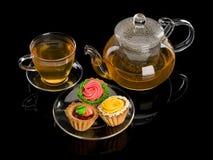 Deser i herbata Zdjęcie Royalty Free