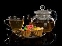 Deser i herbata Obrazy Royalty Free