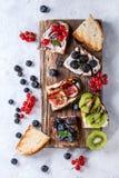 Deser kanapki z jagodami Zdjęcie Stock
