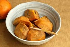 Deser strugający persimmon Fotografia Royalty Free