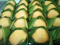 deser tajlandzki kijów ryż z custard jajkiem obraz stock