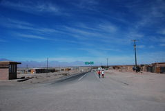 Deseret road in Chile Stock Image