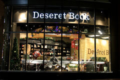 DeseretBoekhandel, onderaan stad Salt Lake City royalty-vrije stock afbeelding