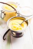 deserowa puddingu cukierki wanilia Obrazy Royalty Free