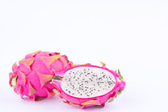 Deserowego organicznie smoka owocowy dragonfruit lub pitaya na białego tło zdrowego smoka owocowym jedzeniu odizolowywającym Zdjęcia Stock