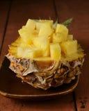 Deserowy ananas pokrajać Zdjęcia Royalty Free