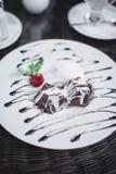Deserowy czekoladowy fondant Obrazy Stock