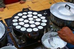 Deserowy Tajlandzki cukierki. Tajlandzki kokosowy pudding Obrazy Stock