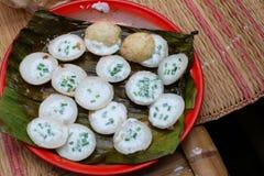Deserowy Tajlandzki cukierki. Tajlandzki kokosowy pudding Zdjęcia Stock