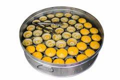 Deserowy Tajlandzki słodki cukrowej palmy tort z koksem w ceramicznym pucharze Fotografia Stock