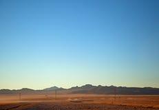 Deserowy teren 51 w Rachel Nevada Obraz Royalty Free
