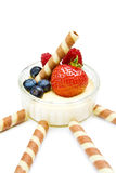 deserowy truskawkowy jogurt obraz royalty free