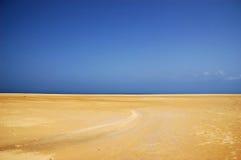 Desert. Sand desert and blue sky Stock Photography