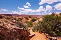 Desert. Red Desert, Arches National Park, Utah, USA Stock Photo