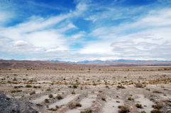 Desert. The great desert in XinJiang of China,there are little vegetative cover in it.The weather there is dry with little rain or snow,sky is quite blue Royalty Free Stock Photo