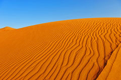 Desert. Sand dune with wind-made waves Stock Photo
