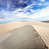 Desert. Beautiful sandy desert at day time royalty free stock images