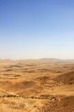 Desert. View of Large Crater in Negev desert, Israel Royalty Free Stock Image