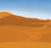 Desert. Early morning desert landscape, beginning of a hot summer day Royalty Free Stock Photography