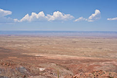 Desert. The desert under a blue sky stock photos