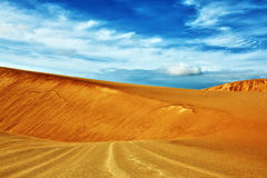 Desert. Sandy desert at day time. Vietnam. Mui ne royalty free stock photo