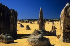 Desert. The pinnacles desert west-australia Stock Photos