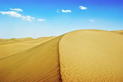 Desert. Beauty of the Taklimakan Desert in Xinjiang, China Royalty Free Stock Photo