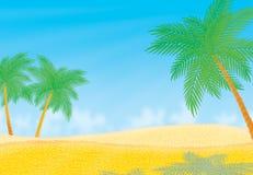 Desert. Palms in an oasis in an arid desert Stock Images