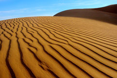 Desert. Structure of corrugated sand of the Badain Jaran desert china Royalty Free Stock Photography