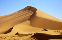 Desert. A serpentine moving dunes in the Badain Jaran desert china Stock Images