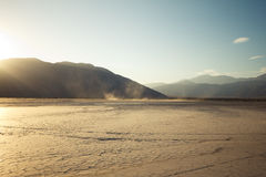 Desert. Clark Dry Lake, Anza Borrego Desert State Park royalty free stock photo