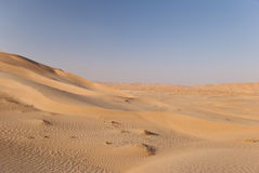 Desert. The sandy desert in the west Oman Royalty Free Stock Photos