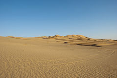 Desert. The sandy desert in the west Oman Royalty Free Stock Images