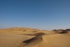 Desert. The sandy desert in the west Oman Royalty Free Stock Image