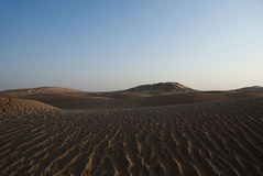 Desert. The sandy desert in the west Oman Royalty Free Stock Photography