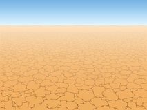 Desert. Landscape with cracked earth, vector Royalty Free Stock Photography