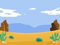 Desert. Illustration of an empty desert scene Stock Photo