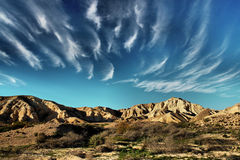 The desert. Clouds above a desert scene, Negev, Israel Royalty Free Stock Image