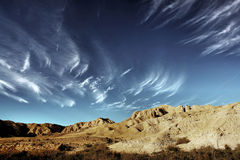 The desert. Clouds above a desert scene, Negev, Israel Royalty Free Stock Photos